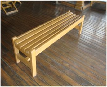 Ecomadera madera construccion muebles casas juegos for Bancas de jardin de madera