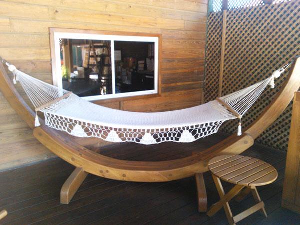 Ecomadera madera construccion muebles casas juegos infantiles - Bases para hamacas ...